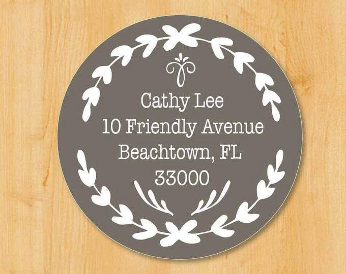 Return Address Sticker | Custom Stickers | Round Address Label | Save The Date Labels | Wedding Invitation Labels | Bridal Shower Labels