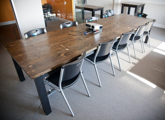 12ft solid wood farmhouse conference table extra by emmorworks for 12 foot conference room table
