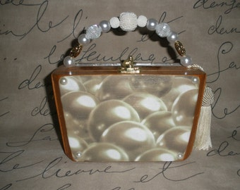 Cigar Box Purse, Wooden, Pearl Themed, Fuente Short Story, Bridesmaid Gift- Gorgeous! #634
