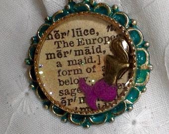 Custom Pendant Mermaid Pendant Resin Jewelry Fantasy Christmas Gift Mother's Day Gift