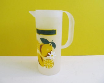 Lemonade Pitchers, Plastic Pitchers, Plastic Lemonade Pitchers, Vintage Pitchers, Camping, Vintage RVs, Travel Trailers, Yves Rocher Pitcher