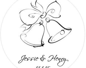 40 Wedding Bell Sticker