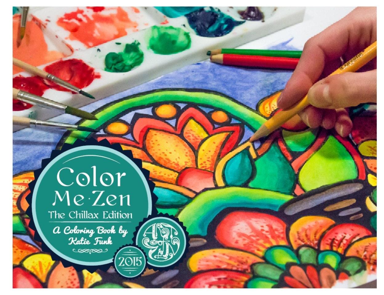 Zen colouring in book - Coloring Book Zen Zoom