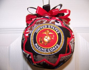 U.S. Marine Quilted Ornament/Patriotic/Marine Corps/ Emblem/Military Quilted Ornament/USMC