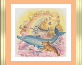 Flying fish and Purple sea