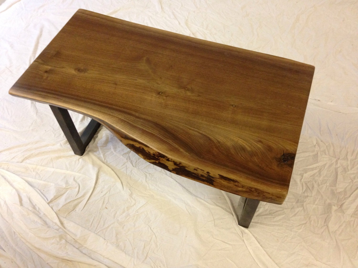 Live edge coffee table live edge table wood slab by for Wood slab coffee table