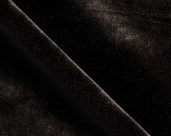 "Velvet Stretch BLACK Fabric / 58"" Wide / Sold By The Yard 6029"