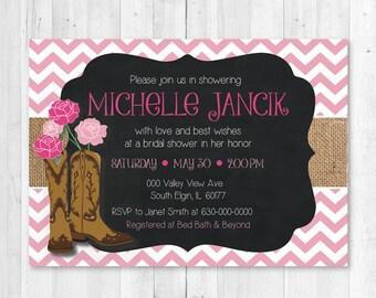 Cowgirl Bridal Shower Invitations