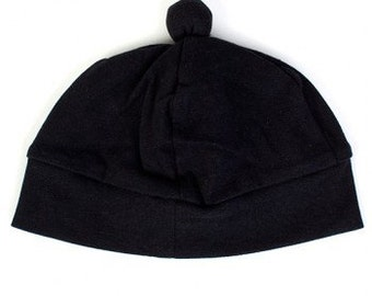 Koolabah Oganic Black Beanie 2-4 years old