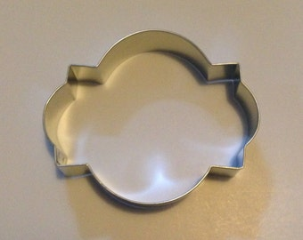 "4"" Photo Plaque Cookie Cutter"
