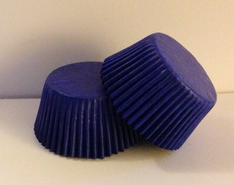 50 count -  Blue Glassine standard size cupcake liners/baking cups