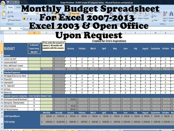 Home Budget Worksheet Free Household Budget Spreadsheets Money