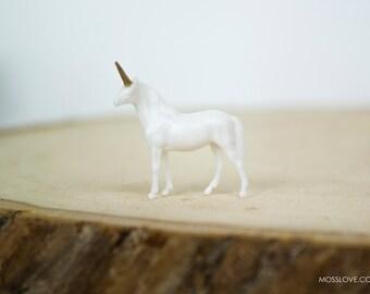 Unicorn Miniature Terrarium Figurine // Accessory