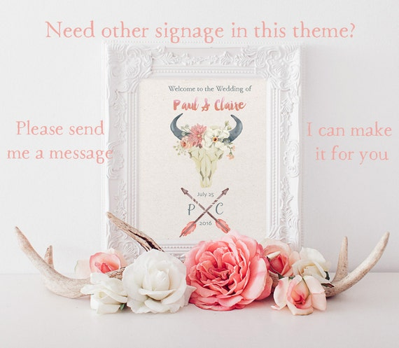 Rustic Boho Invitation // Bohemian Wedding invitation Set // Blush Pink // Printable Files for the DIY Bride// Invite Plus RSVP
