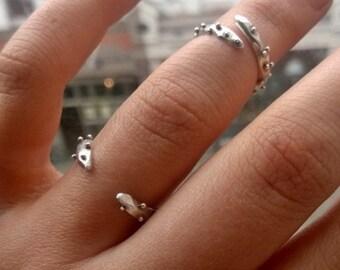 Organic Sterling Silver Sea Urchin Midi Ring