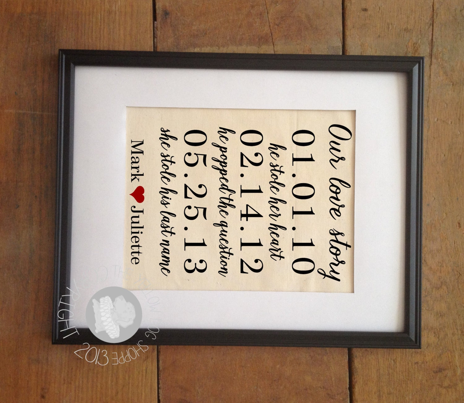 ON SALE Our Love Story Wedding Important By TheYellowDogShoppe