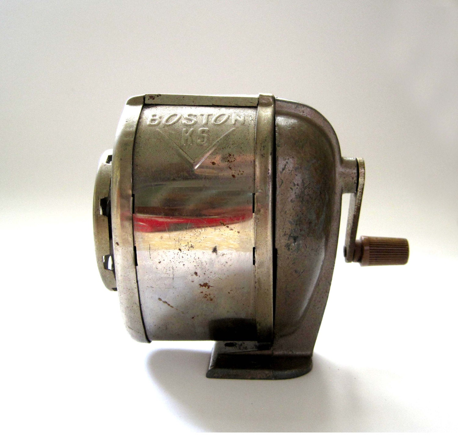 Vintage Boston K5 Pencil Sharpener Mid Century Chrome And