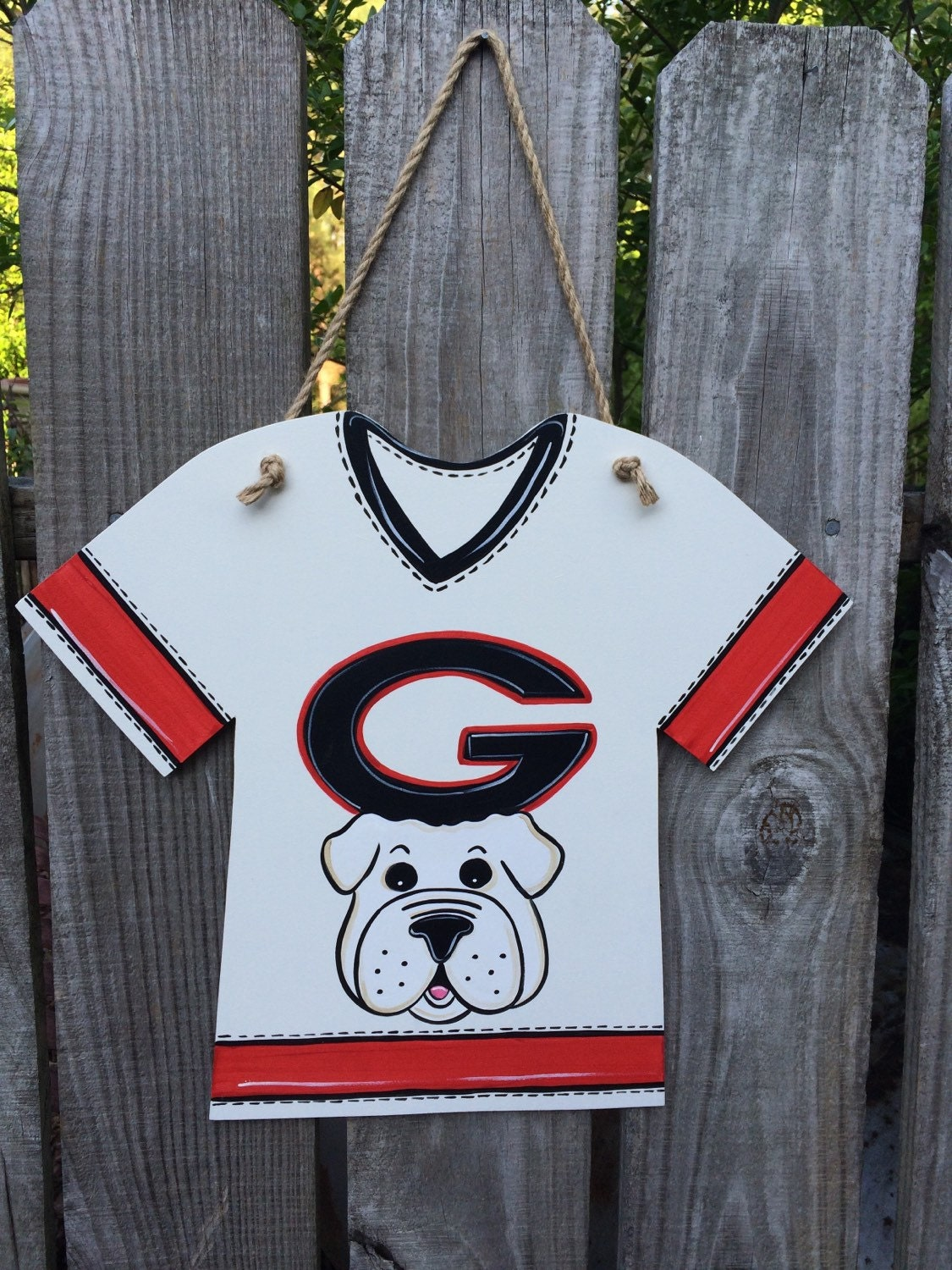 jersey wall hanging uga by doodlesnstitches on etsy. Black Bedroom Furniture Sets. Home Design Ideas