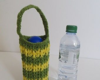 Crochet Water Bottle Bag, Water Bottle Holder, Water bottle carrier, Cozy, Drink Bottle Tote, Drink bottle holder, School Water Bottle Bag