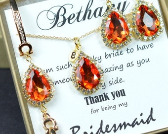 Wedding Jewelry, Bridesmaid Jewelry Bridesmaid Gift Bridesmaid Earrings,Drop,Dangle,burnt orange gold,burnt orange yellow,tangerine orange