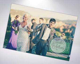 50 Wedding Thank You Postcards