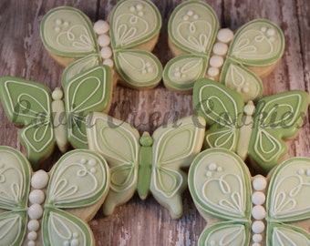 1 Doz Butterfly Decorated Sugar Cookies