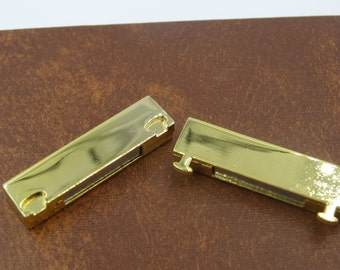 Magnetic Bar Clasp 37x19 mm  Gold