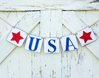 USA, 4th of July, Patriotic banner, cookout decoration, Independence Day