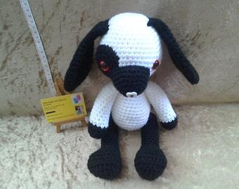 Handmade crochet dog toy, big crochet dog, amigurumi dog, crochet animal