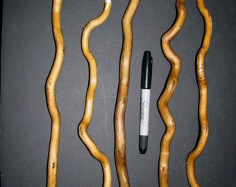 """One - Twisted Willow Wood Wizard Wand Spiritual Tool 12""""-15"""" Natural & Rustic"""