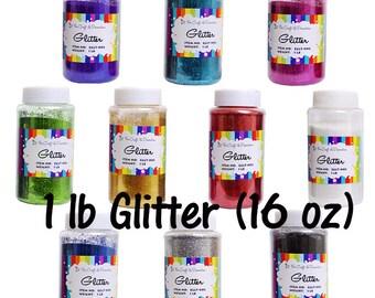 Craft Glitter 14 DIFFERENT COLORS 16oz. (1lb)