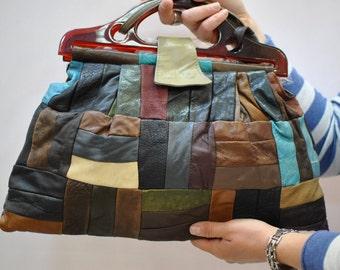 Vintage MESSENGER LEATHER BAG....(007)