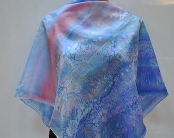 Vintage HANDMADE hand dyed silk scarf....(890)