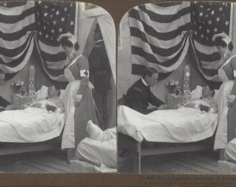 American Stereoscopic Company -  Stereoview Card - The Lieutenant - Number A-86460 - Copyright 1906