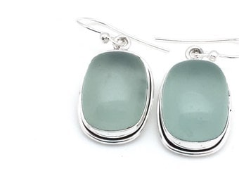 Seafoam Chalcedony Earrings