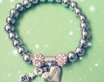 Mum Bracelet with childs initials