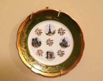 Vintage Green & Gold Plate
