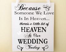 someone we love is in heaven, rememberance, sentimental, loved ones, wedding, memory table