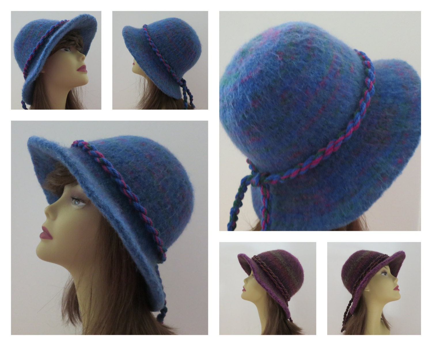 Felted Hat Knitting Pattern : Felted Hat Pattern 203 Flat Brim Hat Felt Hat Knitting