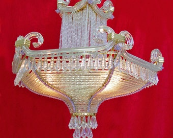 """Vintage Lighting Rare 20"""" x 18"""" Spain 3 Light Brass Crystal Chandelier Store Exclusive STORE PICKUP ONLY!!"""