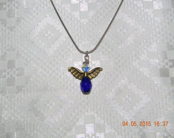 Blue angel necklace