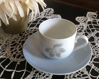 Bing and Grondahl Denmark Dematisse Tea Cup Light Blue Grey
