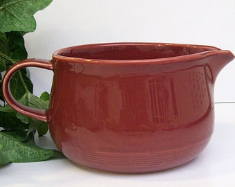 Vintage NANCY CALHOUN Sauce Boat – Gravy Boat – In Raspberry - Stoneware – Made in Japan - Ceramic -