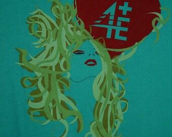 4E/EEEE Juniors L Turquoise Blue/Green Dank Short Sleeve T-Shirt