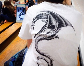 Lisbeth Salander Dragon tattoo Shirt,Dragon Shirts,Dragon Shirt,dragon art,The girl with the dragon tattoo,alternative,kawaii,harajuku