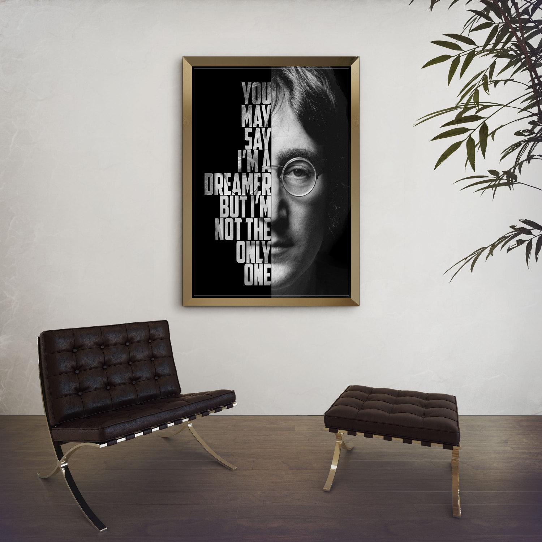 Cosmetics black leather gloves lyrics - John Lennon Imagine John Lennon Poster Song Lyric Art Music Poster Wall Art Black And White Art Custom Lyrics Print