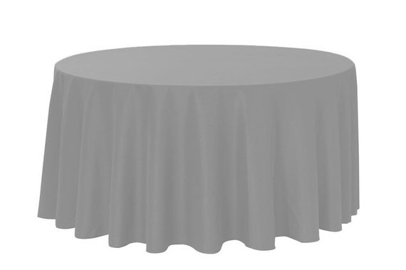 120 inch round polyester tablecloth gray wedding tablecloths for 120 inch round table linens