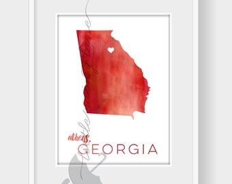Georgia Print - Georgia Art - Georgia Poster - Georgia State Print