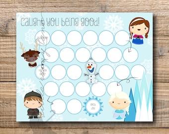 Kids Reward Chart - Frozen Reward Chart - Printable - Instant Download Printable