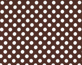 SALE, Ta Dot Brown by Michael Miller Fabrics CX1492, Sold by the half yard